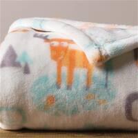 Trend-Lab 102870 Woodland Moose Plush Baby Blanket