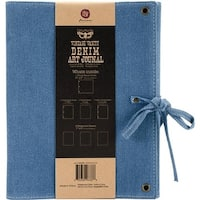 Finnabair Vintage Vanity Art Journal, 8 x 10 in. - Blue Denim
