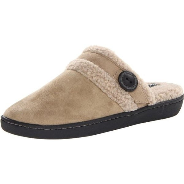 Woolrich Womens Kettle Creek Mule Slippers Faux Fur Swipe Fade