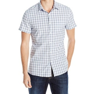 Kenneth Cole Reaction NEW Blue Mens Size Small S Button Down Cotton