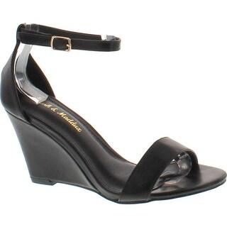 Mark And Maddux Elisha-13 Wedge Sandal In Black