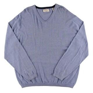 Weatherproof Mens Pullover Sweater V-Neck Ribbed Trim - XxL