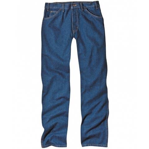"Dickies 9393RNB3632 Men's Regular Fit 5-Pocket Jeans, 36"" x 32"", Indigo Blue"