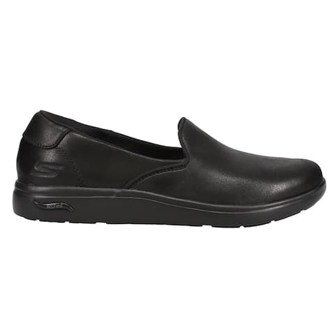 Skechers Arch Fit Uplift Slip On Womens Flats Casual - Black