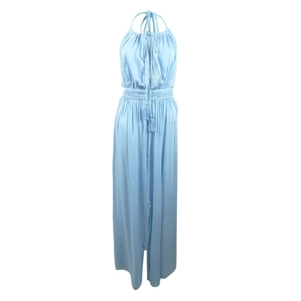bebfb017bd Shop Raviya Women's Halter Maxi Dress Cover-Up (M, Light Blue) - Light Blue  - M - On Sale - Free Shipping On Orders Over $45 - Overstock - 27778111