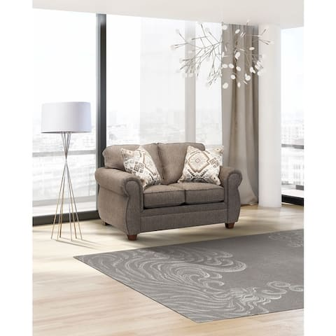 Sandy Fabric Round Arms Sofa Bed