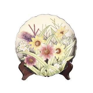 Dale Tiffany PA500210 Porcelain English Garden Decorative Plate