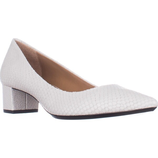 Shop Calvin Klein - Genoveva Kitten Heel Dress Pumps, Platinum - Klein - 20814078 8b5683