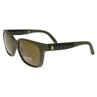 Ralph Lauren PH4089 521673 Matte Green Square Sunglasses - matte green - 54-22-140