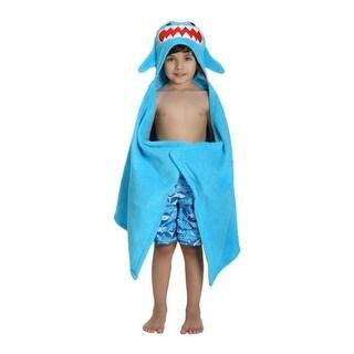 Zoocchini 11108 Sherman the Shark Hooded Towel - 50 x 22 in.
