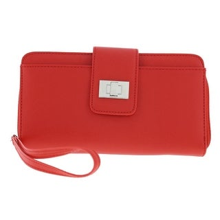 Kenneth Cole Reaction Womens Wristlet Wallet Faux Leather Organizational - o/s