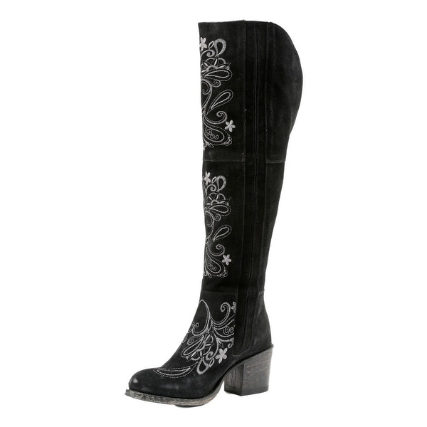 Miss Macie Fashion Boots Womens Uptown Girl Floral Black