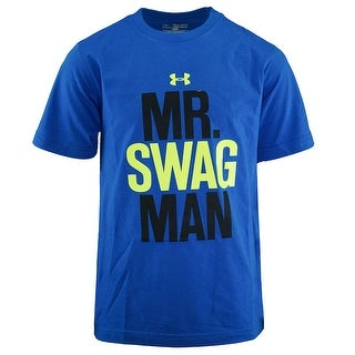 Under Armour Boys' UA Mr. Swag Man S/S T-Shirt - royal blue/black/neon yellow