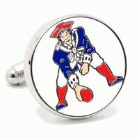 Silver Plated Vintage New England Patriots Cufflinks
