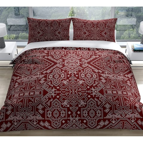 MAMLUK BURGUNDY Duvet Cover by Kavka Designs