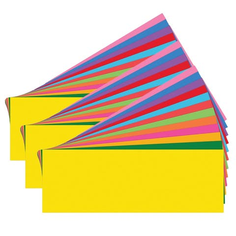Blank Word Wall Cards, Assorted, 80 Per Pack, 3 Packs - One Size