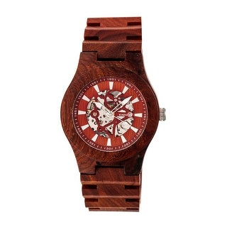 Earth Wood Gobi Unisex Automatic Watch, Wood Band, Luminous Hands