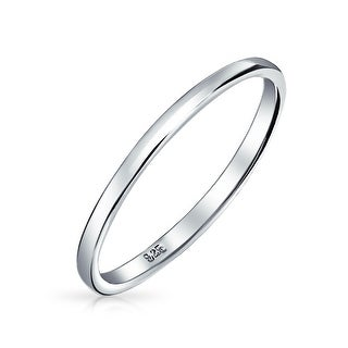 Bling Jewelry .925 Sterling Silver Wedding Band Thumb Toe Ring 2mm (More options available)