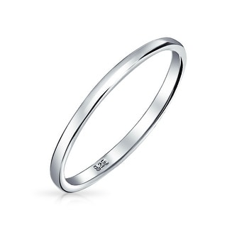 Bling Jewelry .925 Sterling Silver Wedding Band Thumb Toe Ring 2mm (More  Options Available