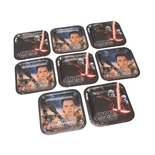 """Star Wars: The Force Awakens 7"""" Square Paper Plates 8ct"""