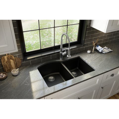 Karran Undermount Quartz Double Bowl Kitchen Sink