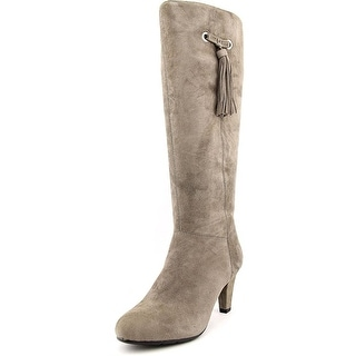 Bandolino Womens BACIA Suede Round Toe Mid-Calf Riding Boots
