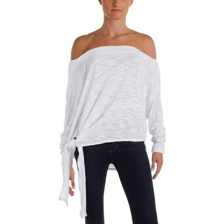We The Free Womens Sweater Side-Tie Long Sleeves