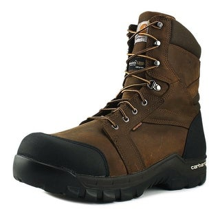 "Carhartt Rugged Flex  8"" Men  Composite Toe Leather Brown Work Boot"