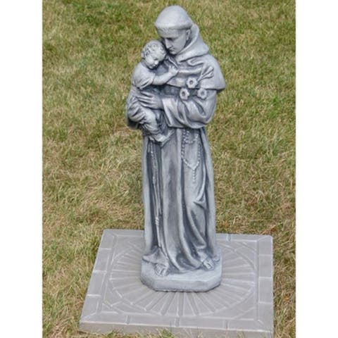 25 Ash Finished St Anthony Outdoor Statue Decoration