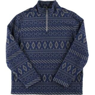 Bass Mens Printed Long Sleeve Sweater