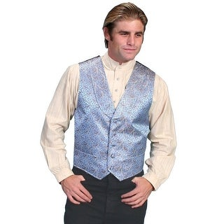 Scully Old West Vest Mens Shawl Lapel Polyester Dry Clean Only