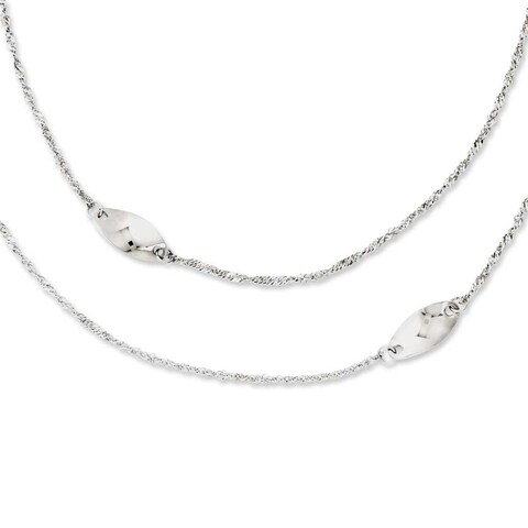 Chisel Stainless Steel Multi Chain with Polished Swirls 25in Layered Necklace - 25 in