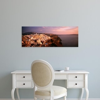 Easy Art Prints Panoramic Images's 'Santorini, Greece' Premium Canvas Art
