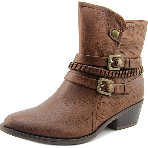 Baretraps Minay Women Round Toe Synthetic Brown Ankle Boot
