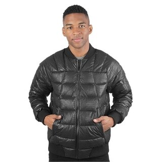 The North Face Kanatak Croc Embossed Down Fill Bomber Jacket Black X-Large