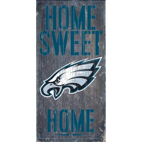 "Philadelphia Eagles Wood Sign - Home Sweet Home 6""x12"""