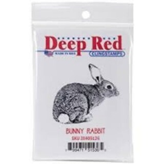 Deep Red Stamps Bunny Rabbit Rubber Cling Stamp - 2 x 1.8