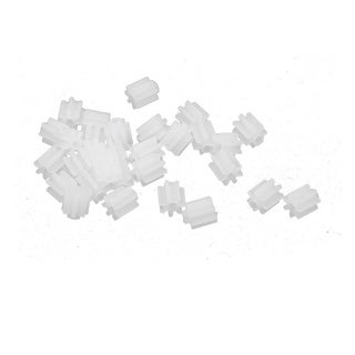 30PCS 7 Teeth 0.3mm Hole Diameter Plastic Front Gear Wheel for RC Toy Car