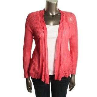 Eileen Fisher Womens Linen Silk Blend Long Sleeves Cardigan Sweater - L