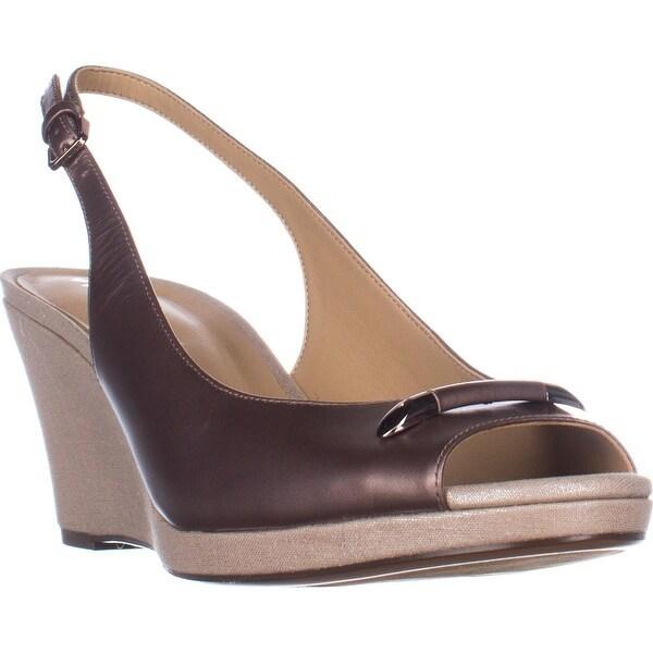 naturalizer Oleander Slingback Wedge Sandals, Bonze Metallic