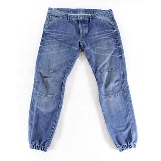 G RAW NEW Blue Mens Size 36X34 Jogger Classic Straight Leg Jeans