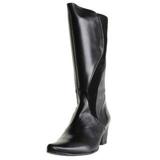 Fidji Womens Knee-High Boots Leather Colorblock