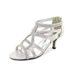 Easy Street Flattery Women W Open Toe Synthetic Silver Sandals