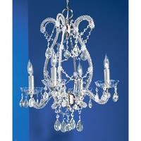 """Classic Lighting 69724-CH 20"""" Crystal Chandelier from the Aurora Collection"""