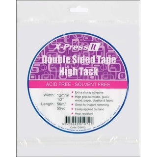 "X-Press It High Tack Double-Sided Tissue Tape-.5""X55yd"