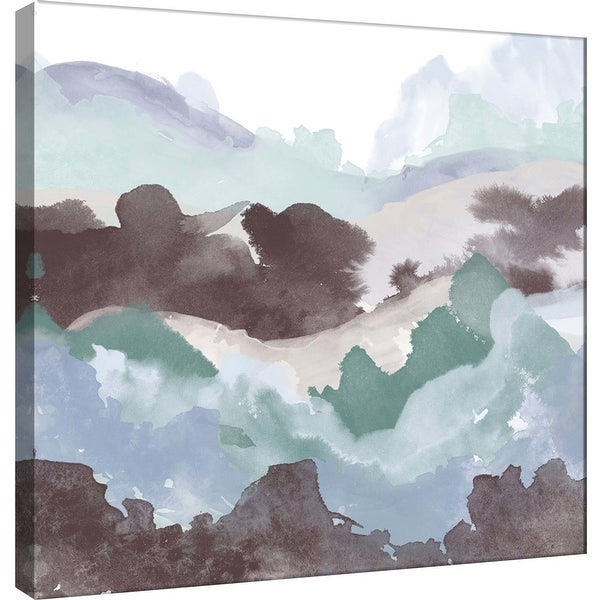 """PTM Images 9-100488 PTM Canvas Collection 12"""" x 12"""" - """"Layers of Winter B"""" Giclee Mountains Art Print on Canvas"""