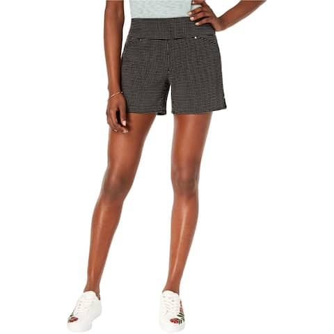 I-N-C Womens Connect the Dot Casual Bermuda Shorts, black, 16