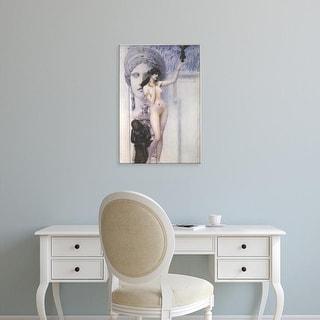 Easy Art Prints Gustav Klimt's 'Allegory of Sculpture' Premium Canvas Art