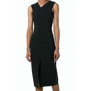 Rag & Bone NEW Black Women's Size 2 Crisscross-Back Sheath Dress