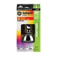 GE 74204 High Efficiency Halogen Light Bulb, 45 Watts, 120 Volt